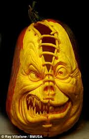 How To Carve An Amazing Pumpkin by Artist Ray Villafane Carves Pumpkin Portraits In Just Two Hours