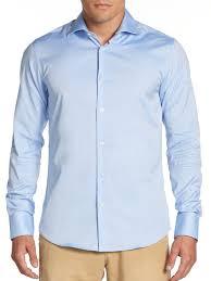 scotch u0026 soda woven cotton dress shirt in blue for men lyst