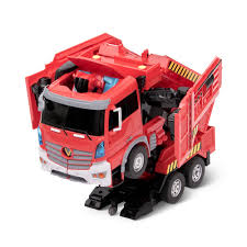 100 Fire Trucks Toys The Voice Activated Transforming Truck Hammacher