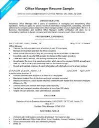 Office Manager Resume Examples Sample For Administrative Assistant