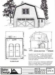 Gambrel Shed Plans 16x20 by Gambrel Roof 1 Car Garage Plan No 384 G1 16 U0027 X 24 U0027 For The