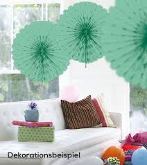 papier deko fächer 45 cm mintgrün