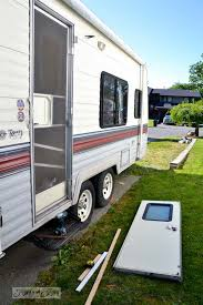 Rv Patio Rug Canada by Tips For Camping In A Travel Trailerfunky Junk Interiors