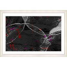 Studio Works Modern Charcoal Conversions Framed Acrylic Painting Print Frame Color Creamy