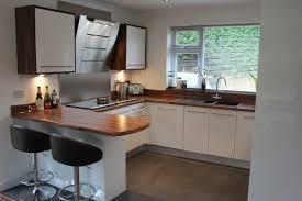 u shape kitchen decorating design ideas using pedestal black