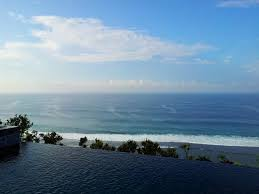 Banyan Tree Ungasan Bali Looking Out To The Cliff Edge Ocean View From