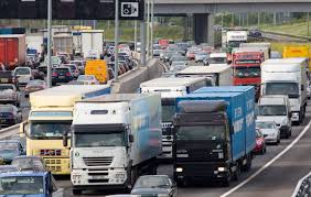 100 Directions For Trucks Traffic Congestion Of Cars And Trucks At A Standstill In Both