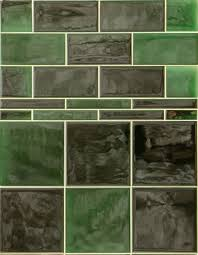 green wall tiles