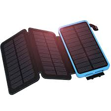 Solar Charger Hiluckey mAh Waterproof Solar Power Bank
