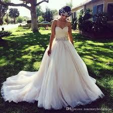 Princess Wedding Dresses With Crystal Belt Ruched Sweetheart V