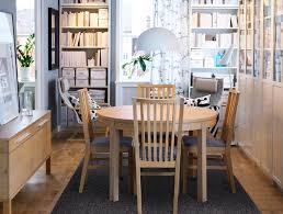 Small Dining Room Furniture Placement Ideas Round Table And Shelving Units For Storage