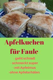 apfelkuchen für faule süßes vom blech mit apfelmus