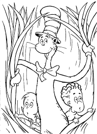 Amazing Free Printable Cat In The Hat Cartoon Coloring Pages For Kids
