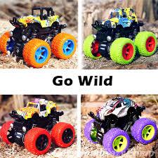 100 Kids Monster Trucks Friction Powered Toys 4 Pack CozyBomB