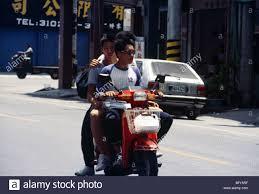 Taiwan Taitung Teenagers On Motor Scooter