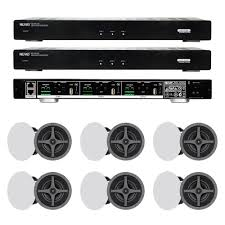 Sonance Stereo In Ceiling Speakers by Nuvo 2x P3100 6x Sonance C6r In Ceiling Speakers Pair Bundle