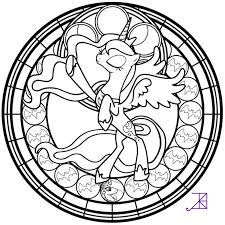 Stained Glass Luna Season 2 Take Line Art By Akili Print Coloring PagesColoring