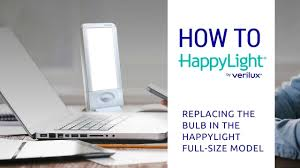how to replace the bulb in the happylight liberty size 10k