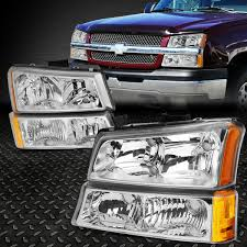 100 Chevy Truck Parts And Accessories FOR 20032006 CHEVY SILVERADO CHROME HOUSING AMBER In EBay Motors