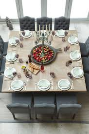 Modern Dining Room Sets For 10 by Modern Rustic Thanksgiving Table Settings 10 Great Ideas