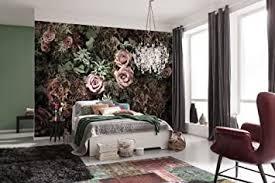 komar fototapete velvet 368 x 254 cm tapete wand dekoration wandbelag wandbild wanddeko strauß rosenstrauß schlafzimmer wohnzimmer