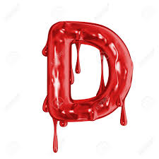 Blood Font Halloween Horror Letter D Stock Photo Picture And
