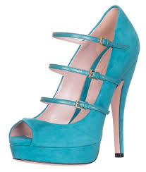 gucci three strap teal green suede high heel open toe pumps shoes
