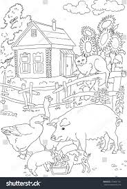 Coloring Cat Pig House