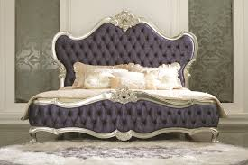 Purple Velvet King Headboard by Italian Reproduction Blue Velvet Silver Frame King Size Queen Size