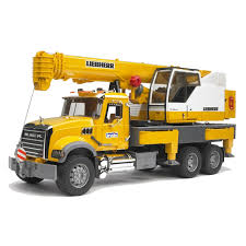 100 Bruder Mack Granite Liebherr Crane Truck Toys Scale 116 Functional Toy