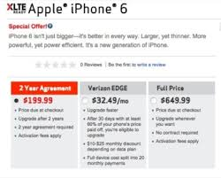 iPhone 6 Verizon Edge vs Verizon 2 Year Contract Prices