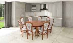 esstisch garnitur tisch 8x stühle stuhl esszimmer garnitur rund runder tisch
