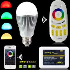 milight led light bulbs 2 4g wireless e27 rgbw rgb wifi led