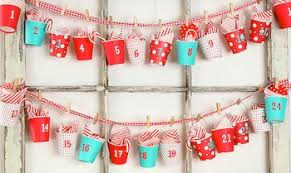 Homemade Advent Calendar Idea Paper Cup