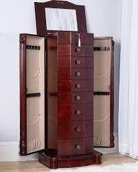 Florence Jewelry Armoire ~ Cherry   Hives And Honey Belham Living Lighted Wall Mount Locking Jewelry Armoire Morgan Dark Walnut Hives And Honey Standing With Mirror White Clothes Storage Florence Oak Heritage Cheval Walmartcom Top Black Options Reviews World Harper Driftwood Hayneedle Shop For The Madison Gray Wash At Natalie Silver Leaf Ava Mirrored
