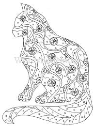 Cat Coloring Page Coloring Pages Adult Coloring By Wordsremember