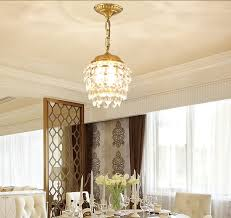 New Chinese Restaurant Chandeliers American Crystal Dining Room Lamp Retro Copper Living Balcony Study Bedroom In Pendant Lights From