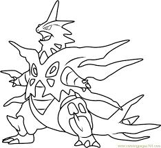 Mega Tyranitar Pokemon Coloring Page