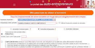 declaration auto entrepreneur chambre des metiers inscription auto entrepreneur en ligne vidéo