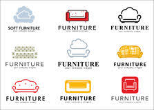 Set Logo Badge Emblem And Elements For Furniture Store Royalty Free Stock