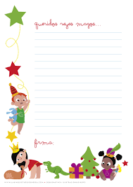Enséñame A Pensar Carta A Los Reyes Magos Para Bebés