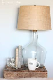 DIY Tabletop Lamp Made Of A Beautiful Old Glass