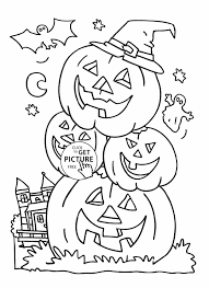 Scary Halloween Coloring Pages To Print by Halloween Coloring Pages Printable Free