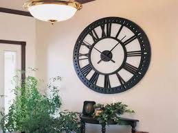 Decorations Nice Classic Wall Clock Decoration For Living Room And Cool Pendant Lamp With Bronze