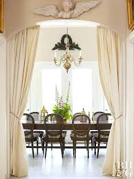 Entry Door Drapes Outside Of Dining Room Window Treatments Houzz Doorway