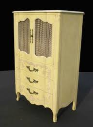 John Widdicomb Dresser Mirror by French Painted Small Dresser Large Nightstand 5950a