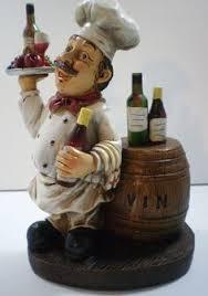 Tall 11 5 Italian French Bistro Chef Figurine Statue Serving Wine