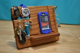 Custom iPhone Wooden Docking Station any Smartphone Dock