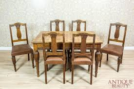 Antique Beauty - Oak Art Nouveau Table With Chairs Set Of 8 Vintage Midcentury Art Nouveau Style Boho Chic Italian Stunning Of Six Inlaid Mahogany High Back Chairs 2 Pair In Antiques Atlas Lhcy Solid Wood Ding Chair Armchair Lounge Nordic Style A Oak Set With Table Seven Chairs And A Side Ding Suite Extension Table France Side In Leather Chairish Gauthierpoinsignon French By Gauthier Louis Majorelle Caned An Edouard Diot Art Nouveau Walnut And Brass Ding Table Four 1930s American Classical Shieldback 4