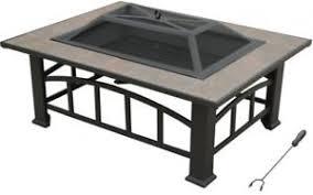 axxonn rectangular tile top pit brownish bronze durable